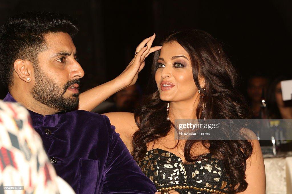Bollywood couple Abhishek Bachchan and Aishwarya Rai Bachchan at Hindustan Times Most Stylish Awards 2016 at Hotel JW Marriott Aerocity on May 24...