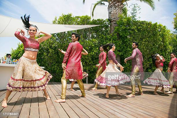 Bollywood dancers perform at the 2nd Annual Golden Portal Awards benefiting The UCLA Brain Tumor Program on June 23 2013 in Beverly Hills California