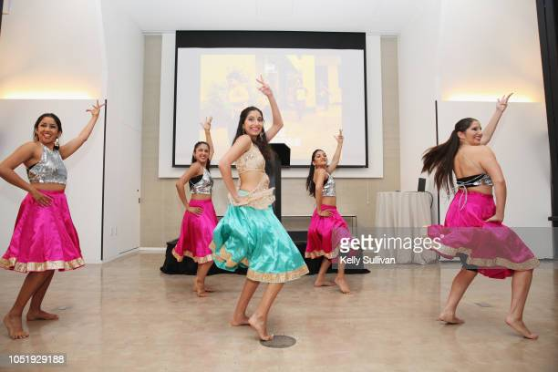 Bollywood dancers performing at Room To Read 2018 International Day Of The Girl Benefit at One Kearny Club on October 11 2018 in San Francisco...