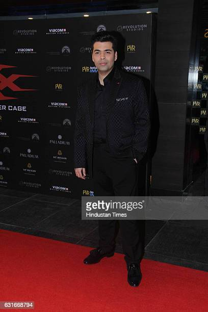Bollywood director and producer Karan Johar at the red carpet of premier of 'xXx Return of Xander Cage' movie on January 12 2017 in Mumbai India 'xXx...
