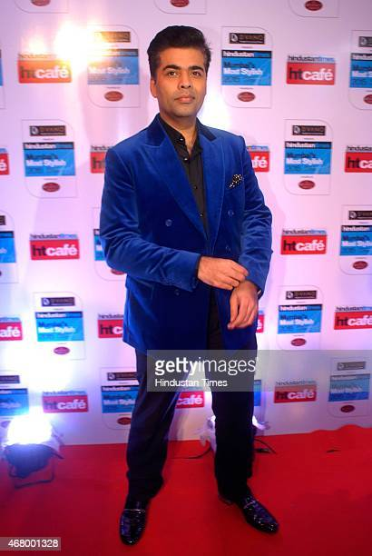 Bollywood director and producer Karan Johar during the Hindustan Times Mumbai's Most Stylish Awards 2015 at JW Mariott Hotel Juhu on March 26 2015 in...