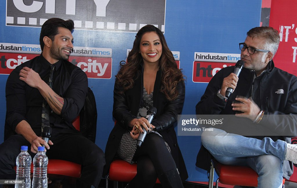 Bollywood director Bhushan Patel and actor Bipasha Basu and Karan Singh Grover during an exclusive interview with HT City Hindustan Times to promote..