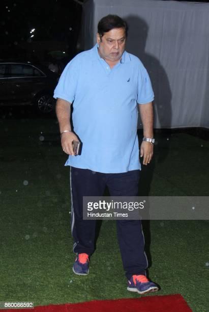 Bollywood director David Dhawan during the condolence meet of Filmmaker Kundan Shah at Santacruz on October 10 2017 in Mumbai India Kundan Shah the...