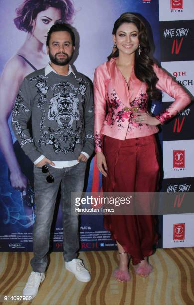 Bollywood director Vishal Pandya and actor Urvashi Rautela during a song launch 'Aashiq Banaya Aapne' of film Hate Story 4 at The View Andheri on...