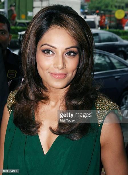 Bollywood film actress Bipasha Basu poses at the Audi India show room in Mumbai on September 8, 2010.