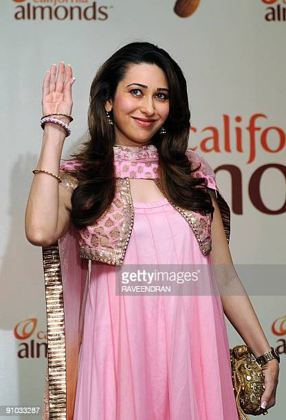 Bollywood film actress Karisma Kapoor launches Californian almonds in New Delhi on September 23 2009 The Almond Board of California announced the...