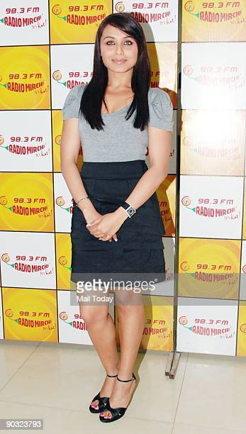 Bollywood Film actress Rani Mukherjee at the studio of Radio Mirchi to promote her upcoming film Dil Bole Hadippa on Wednesday September 2 2009
