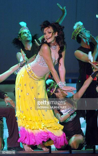 Bollywood film star Yana Gupta perform during the Pond's Femina Miss India 2005 final of the beauty pageant in Bombay 27 March 2005The winners of...