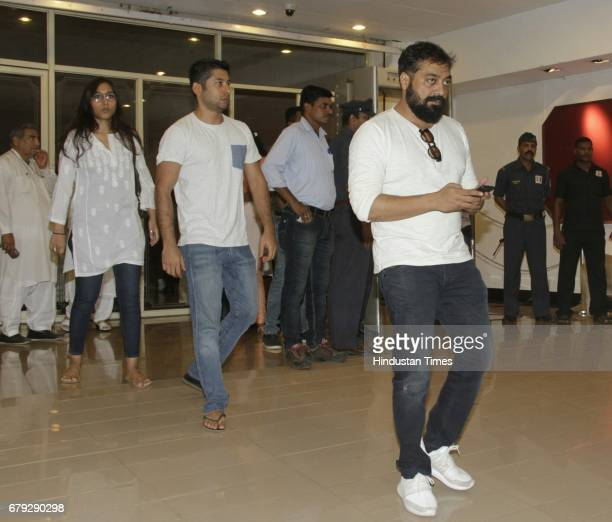 Bollywood filmmaker Anurag Kashyap during the prayer meeting organised for the late Bollywood veteran Vinod Khanna at Worli on May 3 in New Delhi...