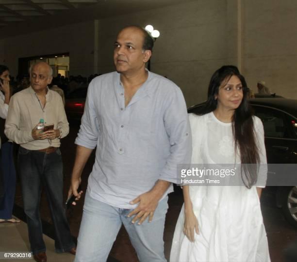 Bollywood filmmaker Ashutosh Gowariker during the prayer meeting organised for the late Bollywood veteran Vinod Khanna at Worli on May 3 in New Delhi...