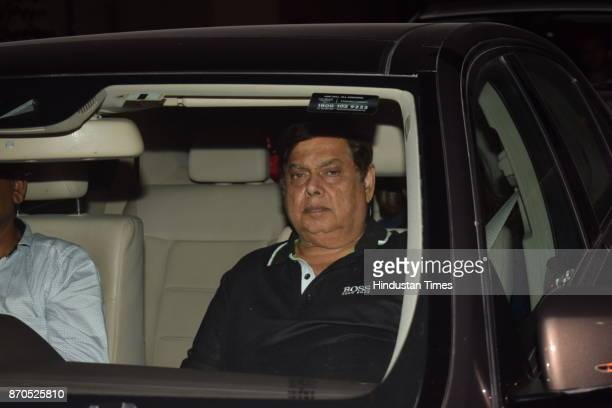 Bollywood filmmaker David Dhawan arrives to attend the special screening of movie Ittefaq on November 3 2017 in Mumbai India