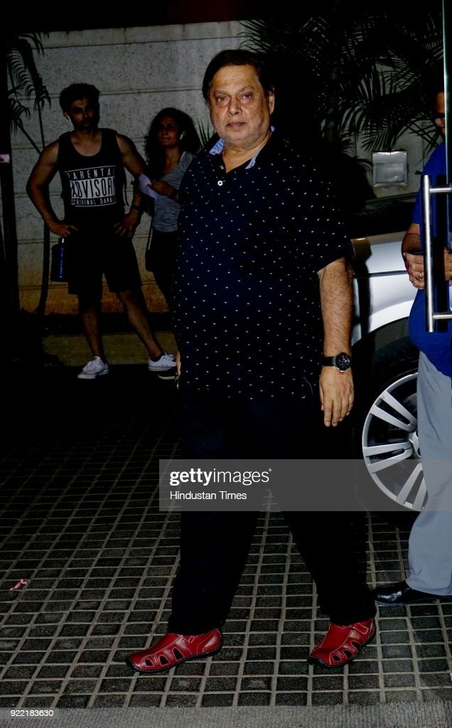 Bollywood filmmaker David Dhawan attends screening of Welcome to New York, in Andheri (W), on February 20, 2018 in Mumbai, India.