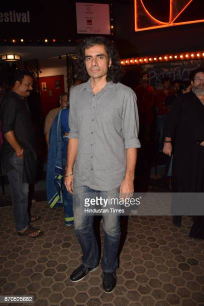 Bollywood Filmmaker Imtiaz Ali during an opening ceremony of Prthivi's annual theatre festival on November 3 2017 in Mumbai India