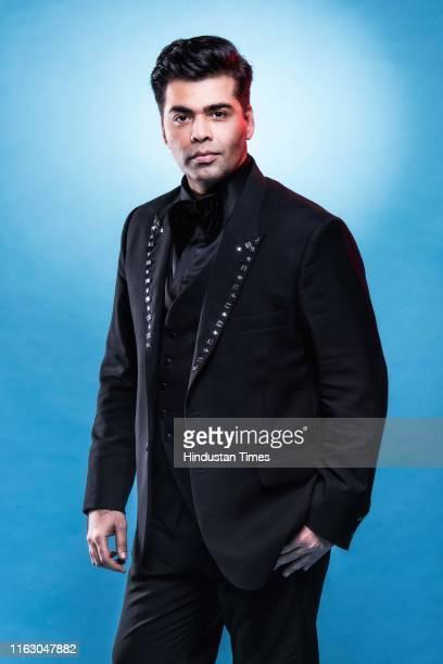Bollywood filmmaker Karan Johar poses for a profile shoot at Hindustan Times Most Stylish Awards 2017 on March 24 2017 in Mumbai India
