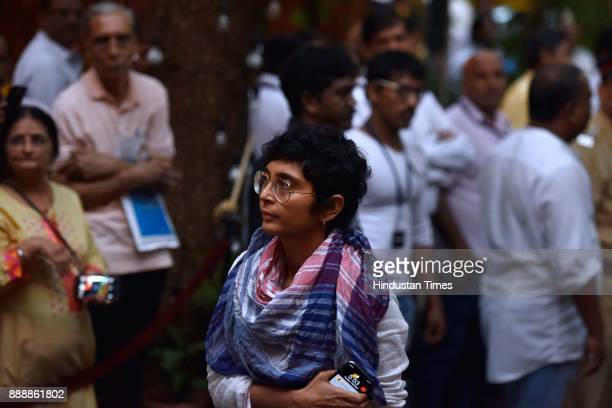 Bollywood filmmaker Kiran Rao during a condolence meeting of late actor Shashi Kapoor at Prithvi Theatre Juhu on December 7 2017 in Mumbai India...
