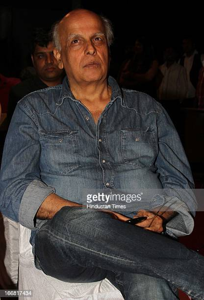 Bollywood filmmaker Mahesh Bhatt at Press conference of upcoming film Aashiqui 2 at Laxmi Studious Film City on April 15 2013 in Noida India