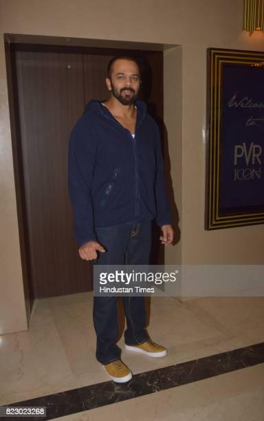 Bollywood filmmaker Rohit Shetty at the music launch of Marathi Film Bhikari on July 23 2017 in Mumbai India