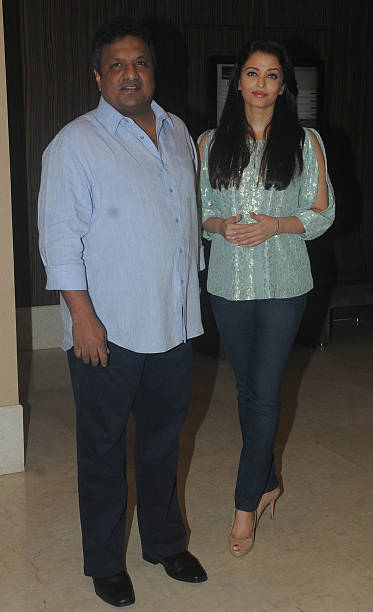 Bollywood filmmaker Sanjay Gupta with actress Aishwariya Rai Bachchan during a script reading session of `Jazbaa` with the entire cast on January 13..