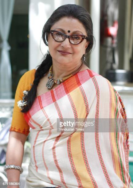 Bollywood filmmaker screenwriter and actor Aparna Sen poses during an exclusive interview with HT CityHindustan Times at Olive bar and Kitchen on...