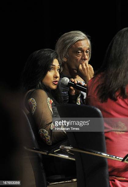 Bollywood filmmaker Sudhir Mishra and actor Rituparna Sengupta during a panel discussion on 'Depiction of Women in Indian Cinema and Television' at...