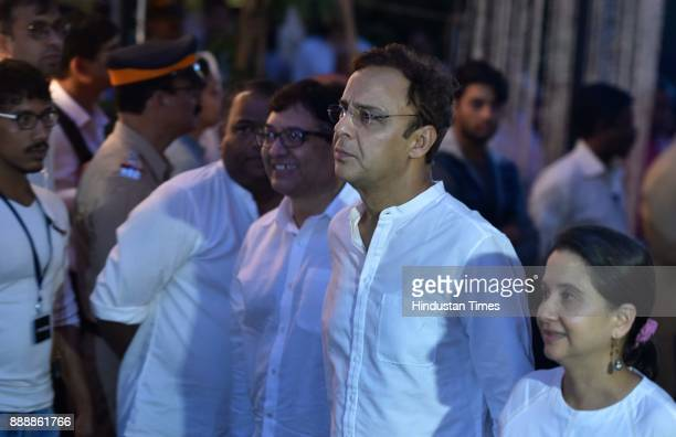 Bollywood filmmaker Vidhu Vinod Chopra during a condolence meeting of late actor Shashi Kapoor at Prithvi Theatre Juhu on December 7 2017 in Mumbai...