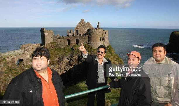 Bollywood filmmakers at Dunluce Castle in Co Antrim Friday 31 March 2006 The hills of Antrim could soon be alive to the sound of Hindi music after a...