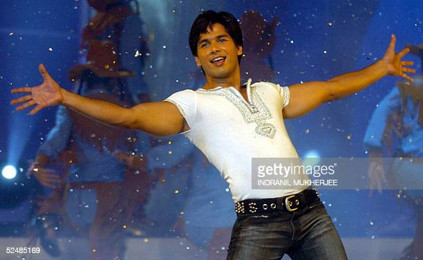 Bollywood movie star Shahid Kapoor performs during the Finals of Pond's Femina Miss India 2005 in Bombay 27 March 2005 The winners of the Pond's...