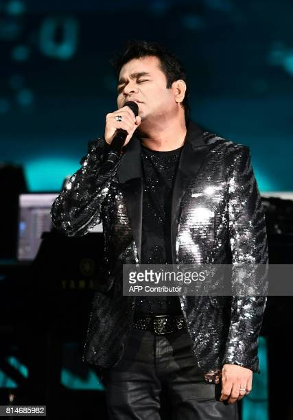 Bollywood music composer and singer AR Rahman performs at IIFA Rock July 14 2017 at the MetLife Stadium in East Rutherford New Jersey during the 18th...