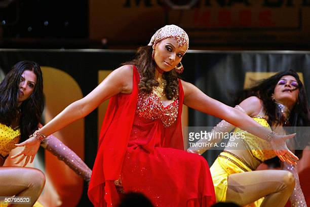 Bollywood performers dance during the 2004 Bollywood Movie Awards at the Trump Taj Mahal 01 May 2004 in Atlantic City New Jersey The fourth annual...