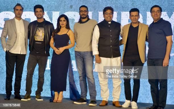 Bollywood Personalities Sushant Singh Rajput Bhumi Pednekar Manoj Bajpayee Ranvir Shorey Ashutosh Rana along with Producer Ronnie Screwvala and...