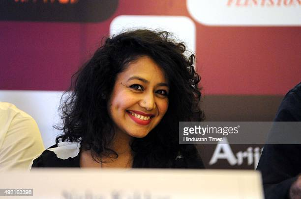 Bollywood playback singer Neha Kakkar addresses a press conference for the upcoming live event 'Ignite the Fire' on 6th November at Leisure Valley...