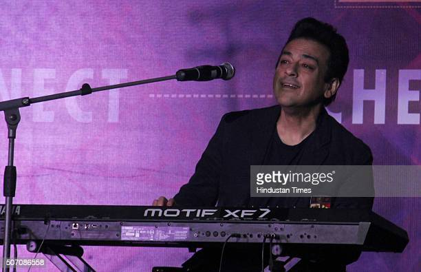Bollywood singer Adnan Sami performs during the 2nd Annual Alumni Day of Whistling Woods International and celebration of Bollywood Filmmaker Subhash...