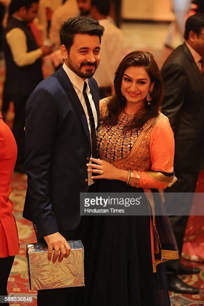 Bollywood singer Akriti Kakkar during the wedding ceremony of Union Minister and singer Babul Supriyo and Delhibased air hostess Rachna Sharma at The...