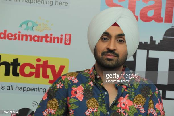 Bollywood singer and actor Dijit Dosanjh during an exclusive interview with HT CityHindustan Times for the promotion of his upcoming movie Super...