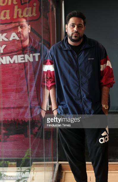 Bollywood singer and rapper Badshah poses during an exclusive interview with HT CITY Hindustan Times at HT Media Office on August 14 2018 in New...
