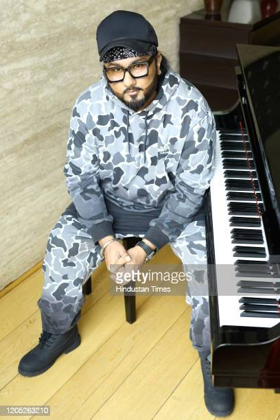 Bollywood singer and rapper Yo Yo Honey Singh poses during an exclusive interview with HT CityHindustan Times at Fraser Studios Mayur Vihar on...
