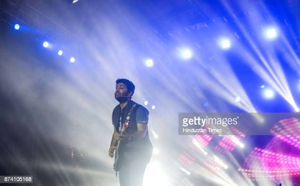 Bollywood singer Arijit Singh performs during Live in concert at MMRDA Grounds BKC on Sunday November 12 2017 in Mumbai India