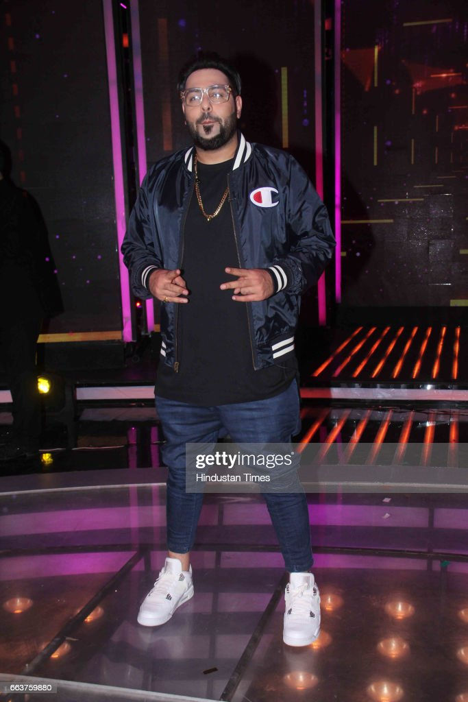 Bollywood singer Badshah during the promotion of film Noor and Nach Baliye integration on the sets of Star Plus singing reality show Dil Hai...