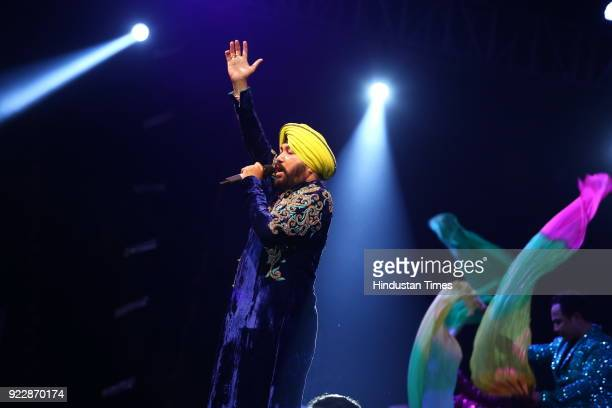Bollywood singer Daler Mehndi during Alavish starstudded event hosted by real estate company Saya Homes as they announced the launch of their Saya S...
