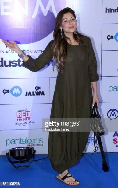 Bollywood Singer Kanika Kapoor during Bollywood singer Arijit Singh Live in concert at MMRDA Grounds BKC on November 12 2017 in Mumbai India