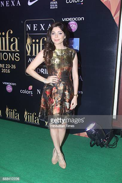 Bollywood singer Kanika Kapoor during the press conference of 16th International Indian Film Academy Awards at Taj Lands End Bandra on May 20 2016 in...