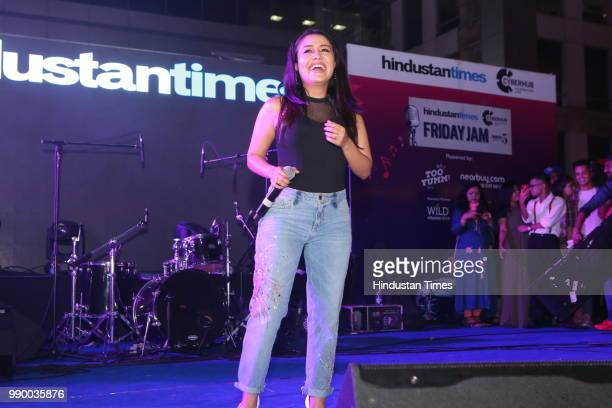 Bollywood singer Neha Kakkar performs during Friday Jam Season 5 at Cyber Hub on June 28 2018 in Gurugram India