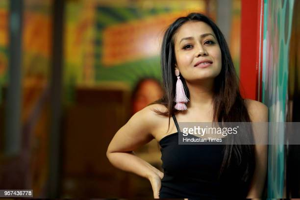 Bollywood singer Neha Kakkar poses during an exclusive interview with HT CityHindustan Times for the promotion of her upcoming song 'Oh Humsafar' at...