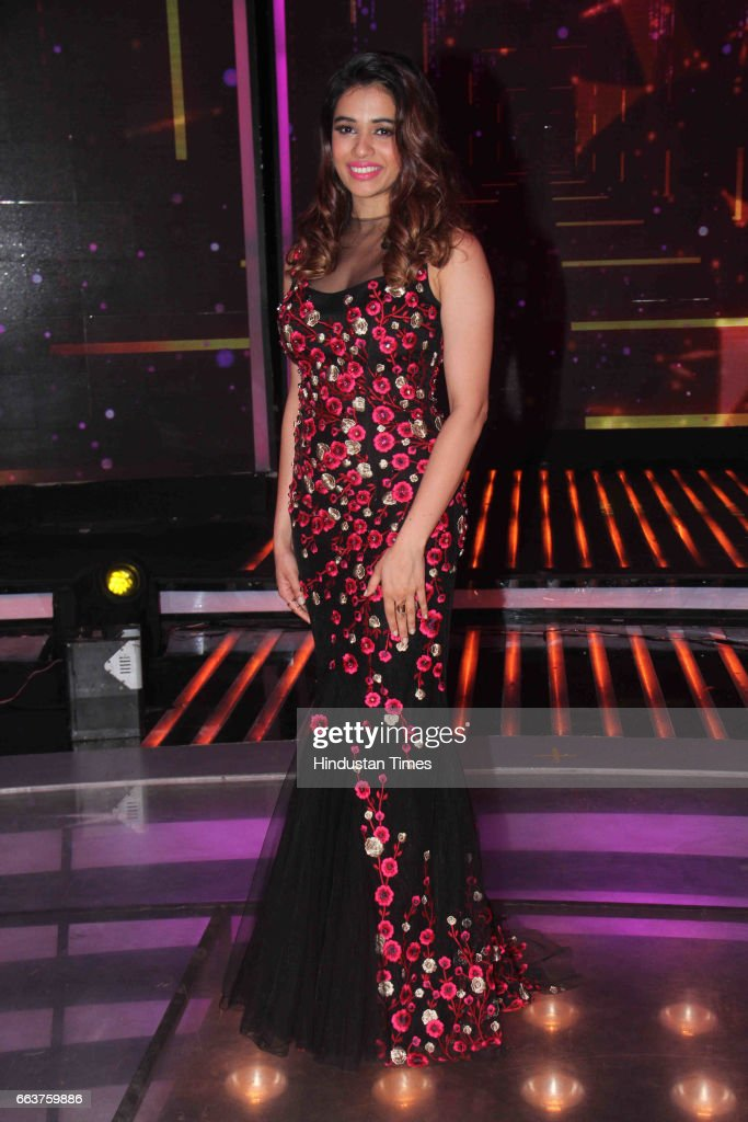 Bollywood singer Shalmali Kholgade during the promotion of film Noor and Nach Baliye integration on the sets of Star Plus singing reality show Dil...