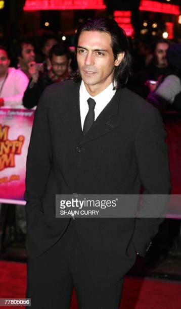 Bollywood star Arjun Rampal attends the world premiere screening of the film 'Om Shanti Om' 08 November 2007 in London's Leicester Square AFP...