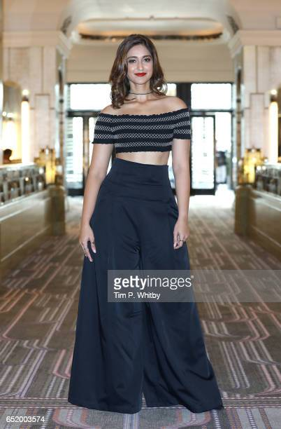 Bollywood Star Ileana D'Cruz attends a photocall for the Bollywood comedy 'Mubarakan' on March 11 2017 at the Sheraton Park Lane Hotel in London...