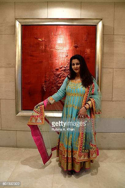 Bollywood star Poonam Dhillon showcased her festive clothing curations Poonam's PopUp at an exhibition at the Ritz Carlton DIFC on September 17 2016...