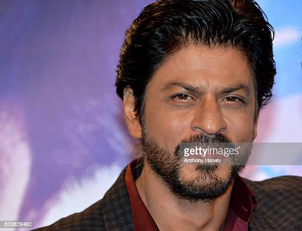Bollywood star Shah Rukh Khan meets his wax figure at Madame Tussauds on April 13 2016 in London England