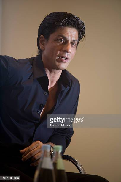 Bollywood superstar Shah Rukh addresses a press conference Somerset House in London prior to the world premiere of his new film Chak de India This...