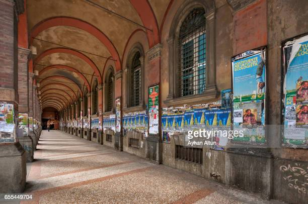 bologna arcades (porticos), university area, italy - bologna stock pictures, royalty-free photos & images